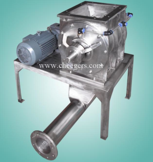 Drop Through Type Stainless Steel Rotary Airlock