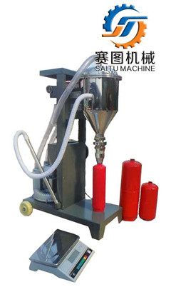 Dry Powder Fire Extinguisher Refilling Discharging Machine To Empty