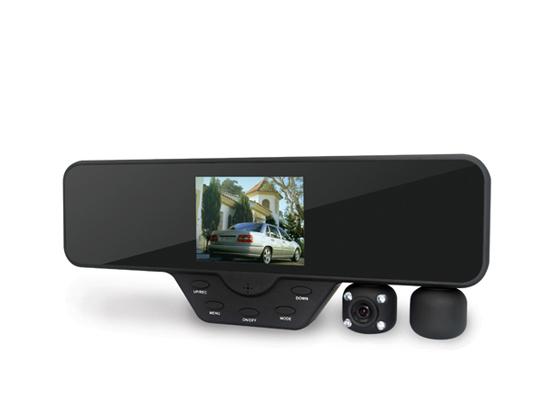 Dual Lens Rearview Mirror Dvr Recorder Car Black Box Dash Cam