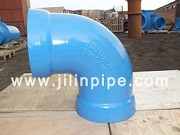 Ductile Iron Pipe Fittings Double Socket Elbow Bend