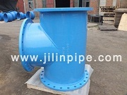 Ductile Iron Pipe Fittings Tee All Flanged