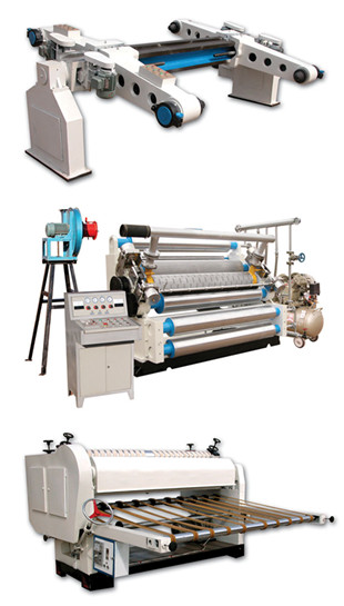 Dwj Series One Side Corrugated Cardboard Production Line
