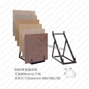 E003 Single Side Floor Tile Display Rack Tower