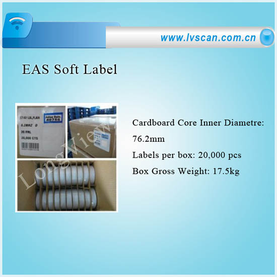 Eas Shoe Soft Label For Security