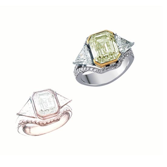 Efes Fancy Yellow Diamond Ring