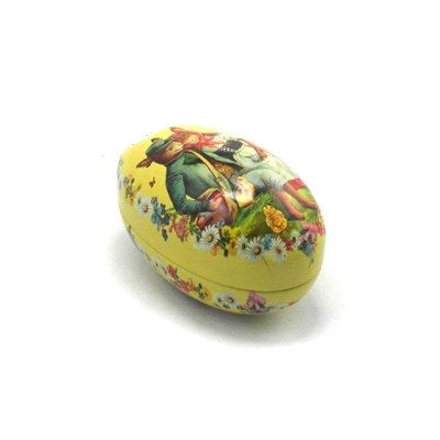 Egg Shaped Metal Box For Easter Candle Or Gift European Leadtime Considerate
