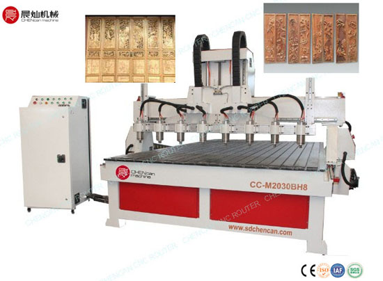 Eight Head Cnc Engraving And Cutting Router Cc M2030bh8