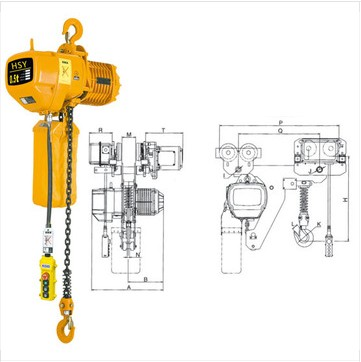 Electric Hoist Hsy With Chain Bag