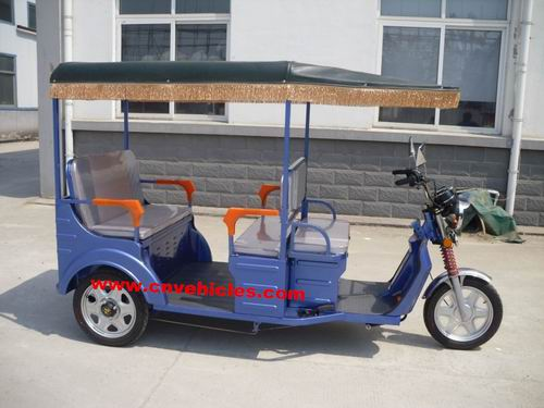 Electric Tricycle Rickshaw Three Wheelers For Passengers 338