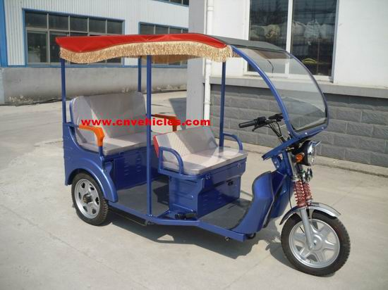 Electric Tricycle Rickshaw Three Wheelers For Passengers