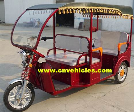 Electric Tricycle Rickshaw Three Wheelers For Passengers Yudi Et3388