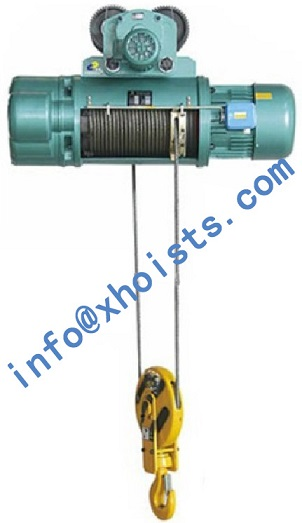 Electric Wire Rope Hoist Single Speed And Dual
