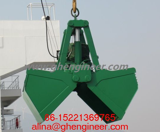 Electro Hydraulic Clamshell Grab For Marine Crane Environment Fine Maintenance