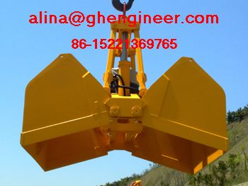 Electro Hydraulic Clamshell Grab For Marine Crane