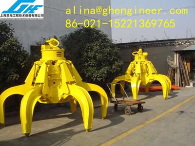 Electro Hydraulic Orange Peel Grab For Marine Crane