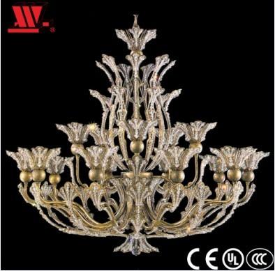 Elegant Brass Flower Chandelier