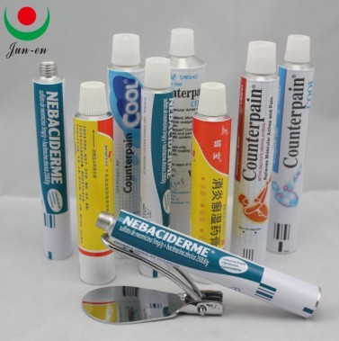 Empty Ointment Aluminum Packaging Tube Medicine Tubes