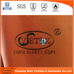 En11612 100 Cotton 200g Fire Resistant Fabric For Flame Retardant Clothing