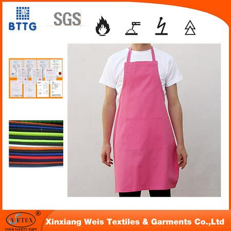 En11612 Cotton Water Proof Fire Retardant Protective Apron Used For Clothing