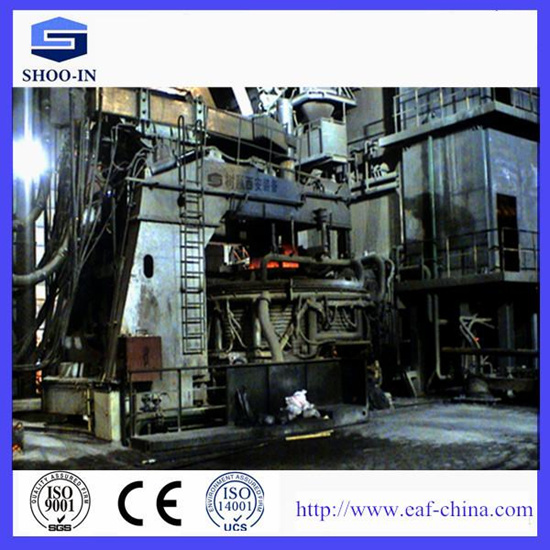 Energy Saving Vertical And Continuous Charging Scrap Preheating Electric Arc Furnace