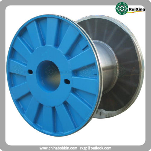 Enhanced Metal Flange Process Spool Cable Puller Wire Drum Bobbin