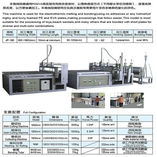 Eva Pe Foam Sheet Electrothermal Melt Joining Machine