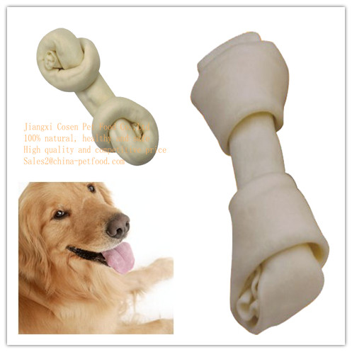 Expanded And White Knotted Bone For Dog Chews