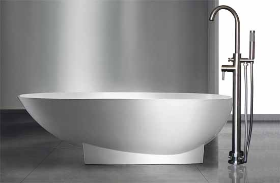 Exporting Sus304 Stainless Steel Floor Mounted Bathtub Faucet