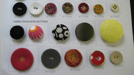 Fabric Enveloped Designer Buttons