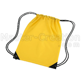 Fabric Gift Bag Drawstring Yellow Duffel Promotional