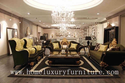 Fabric Sofa Livingroom Furniture Sets Luxury Classic Italy Style Combination