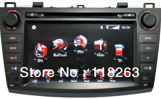 Factory Price Car Dvd Player For Mazda 3 With Gps Radio Bluetooth And Map Free