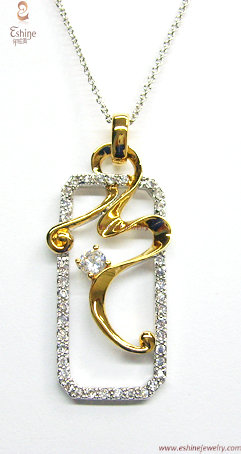 Factory Wholesale Jewelry Gold Plated Brass Cz Pendant