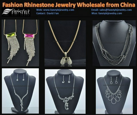 Fashion Crystal Jewelry Necklaces Wholesale From China