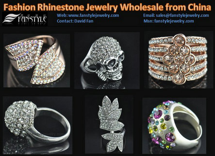 Fashion Crystal Jewelry Rings Wholesale From China