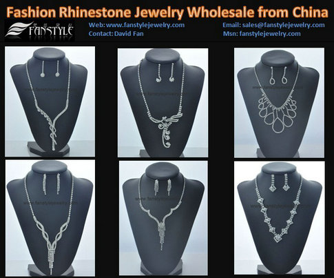 Fashion Crystal Jewelry Sets Wholesale From China