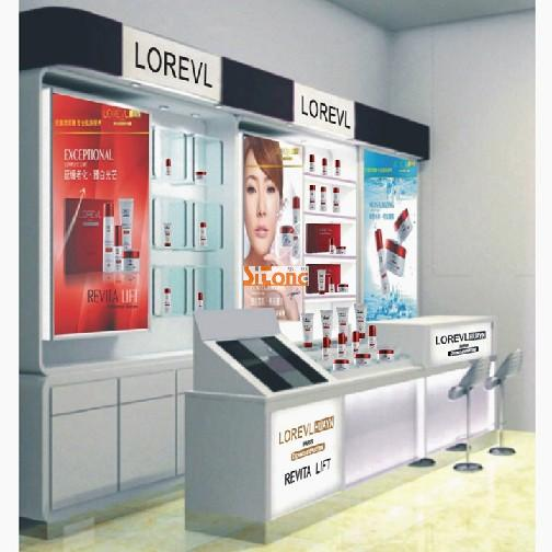Fashionable Acrylic Cosmetic Kiosk For Mall Display