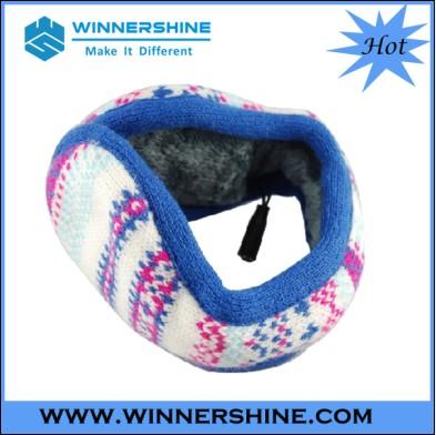 Fashionable Jaquard Knitting Earmuff Headphone