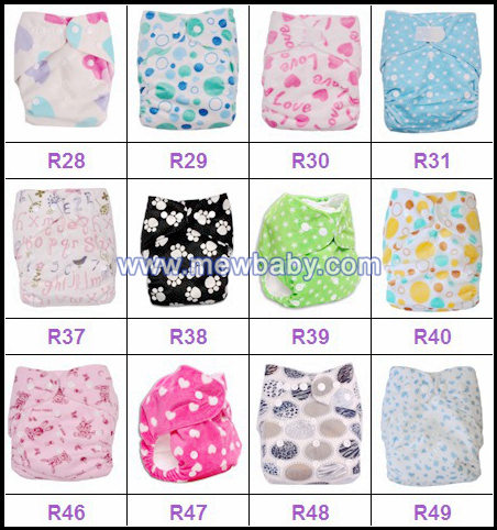 Fashionable Printing Pul Waterproof Baby Cloth Diapers Nappies