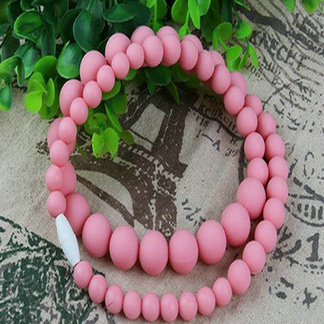 Fda Approved Silicone Chew Beads Teething Necklace For Baby Mom