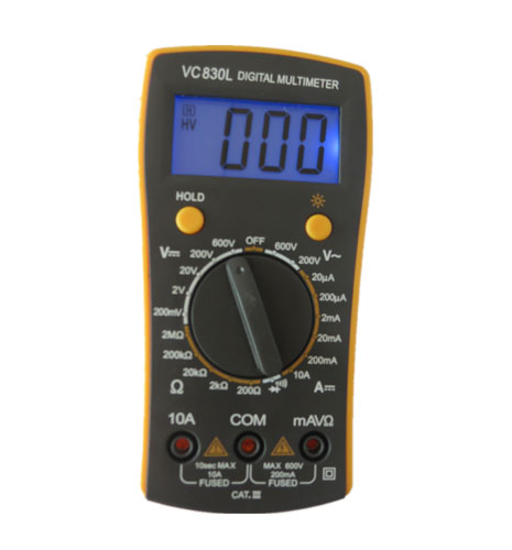 Features And Uses Of Digital Multimeters Vc830l With Backlight