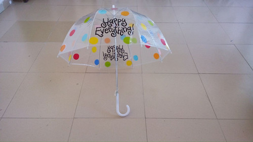 Female Transparent Umbrella