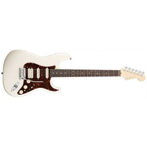 Fender American Deluxe Hss Stratocaster With Case Olympic Pearl Rosewood Fingerboard