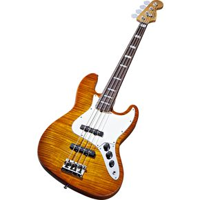 Fender Select Jazz Bass, New, Amber Burst Bass Guitar