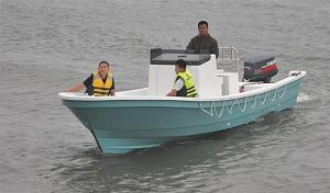 Fiberglass Fishing Boat 7 6m With Ce