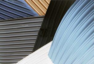 Fine Wide Ribbed Rubber Sheet