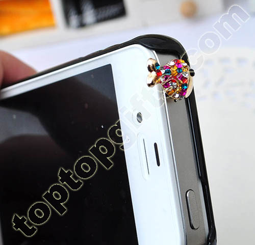 Fish Rhinestone Dust Cover For Iphones