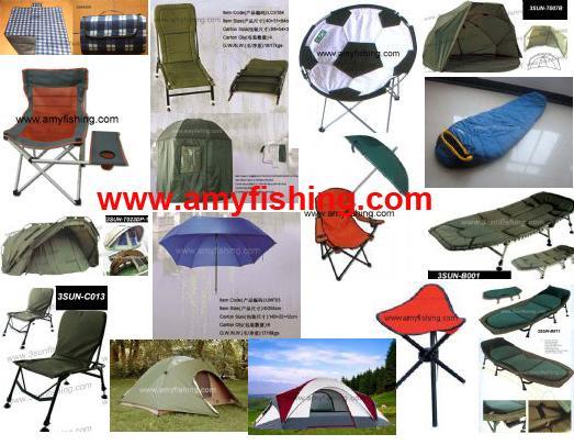 Fishing Chair Umbrella Bed Tent Bivvy Mat Sleeping Bags Carp