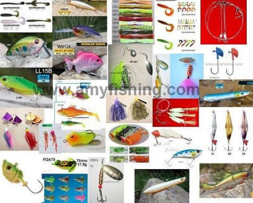 Fishing Lure Artifical Lures Hard Soft Baits Frog Spinner Spoon Spinnerbait Jighead Minnow Sabiki Le