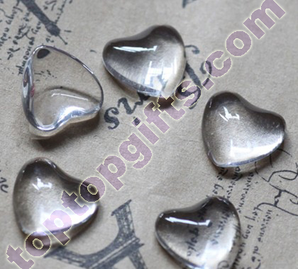Flat Back Heart Cabochon Glue Glass Stone Door Decoration